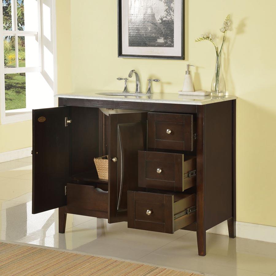 60 Inch Bathroom Vanity One Sink b1487 - 45 single sink vanity carrara white marble top cabinet