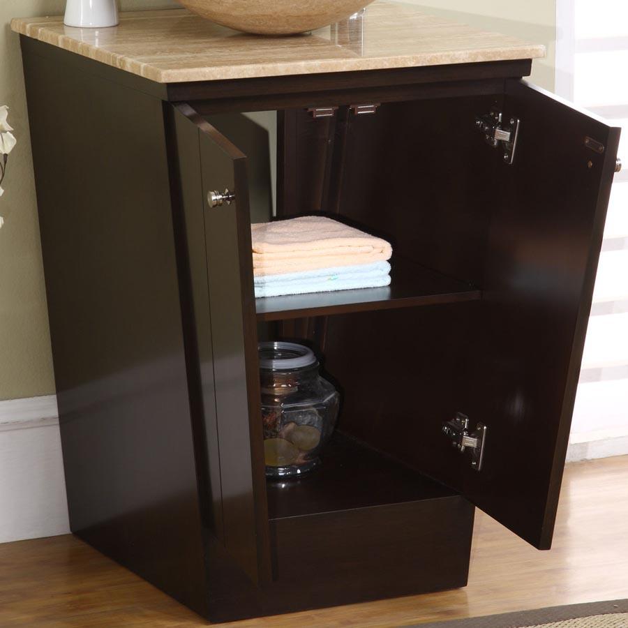 6155 t 22 22 single sink vanity travertine top cabinet