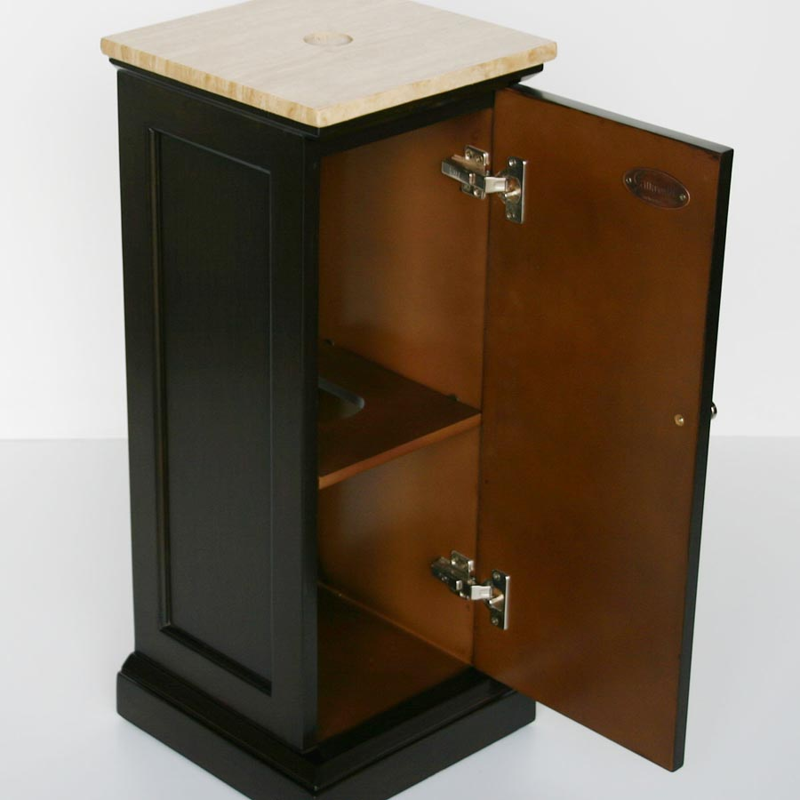 G2044 12 Single Sink Vanity Travertine Top Cabinet