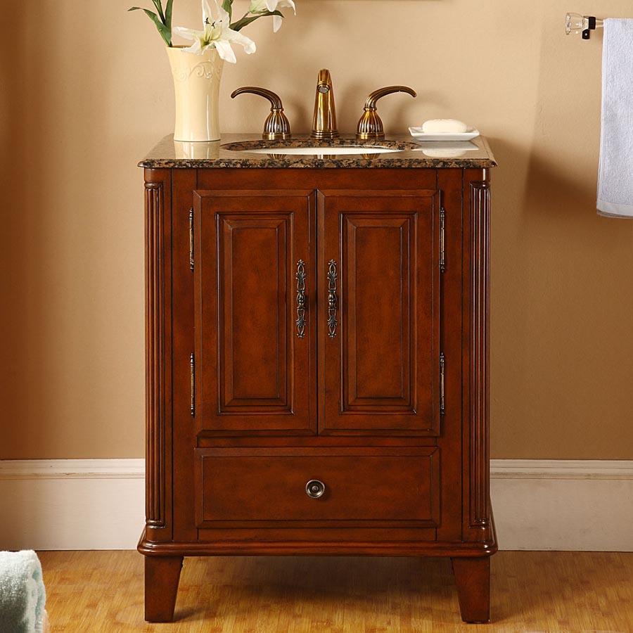 G3163 28 Single Sink Vanity Baltic Brown Granite Top Cabinet