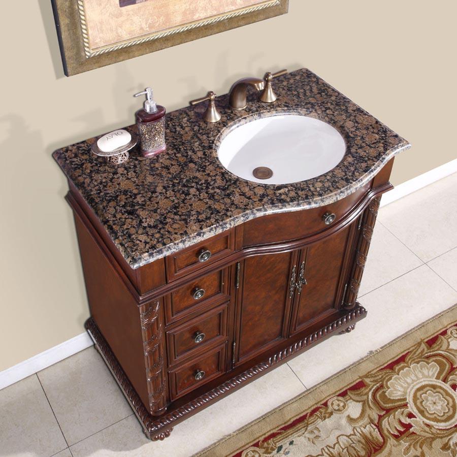 G3121 36 Single Sink Vanity Baltic Brown Granite Top Cabinet