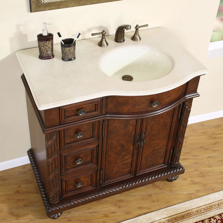 6213 Cm 36 R 36 Single Sink Vanity Cream Marfil Marble