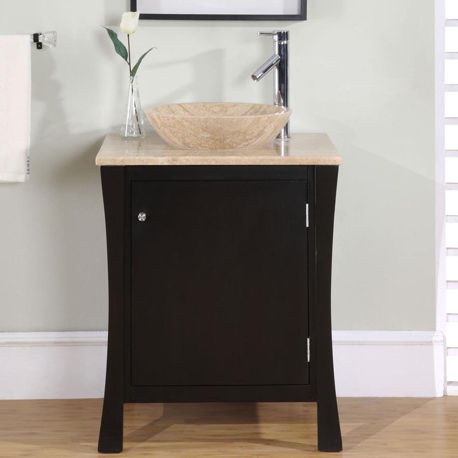 G3073 26 Single Sink Vanity Travertine Top Cabinet