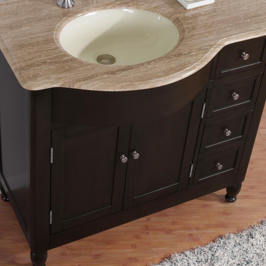 6902 t 38 l 38 single sink vanity travertine top cabinet
