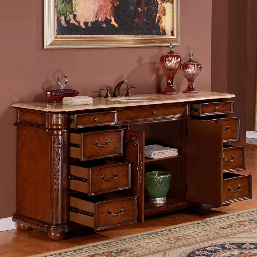 b1131 72 single sink vanity travertine top cabinet