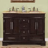 48 Double Sink Vanity Travertine Top Cabinet B1247 400